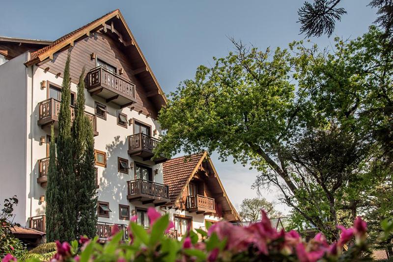 Fachada do Bavaria Sport Hotel em Gramado