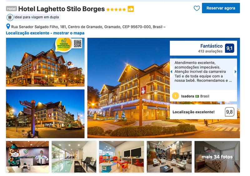 Hotel Laghetto Stilo Borges em Gramado