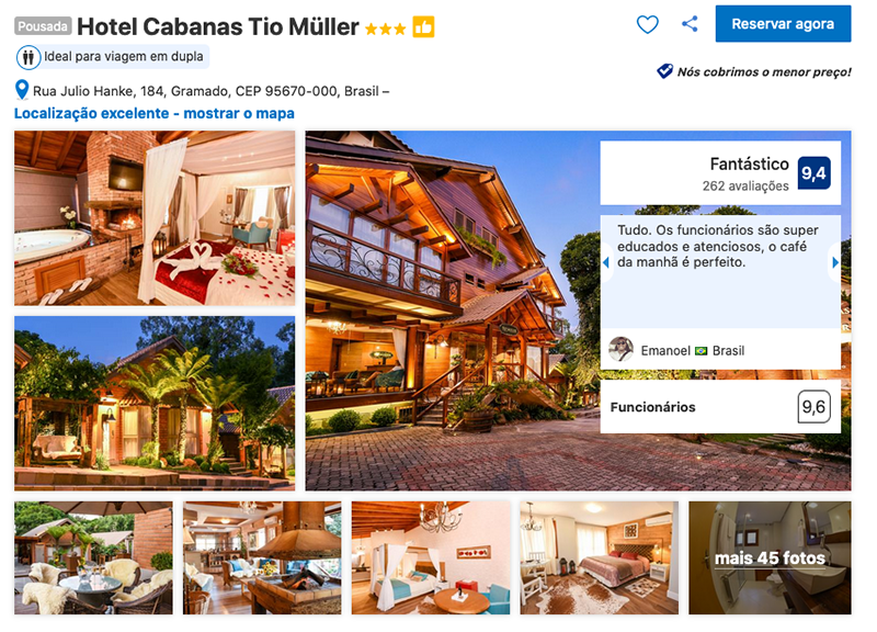 Hotel Cabanas Tio Müller em Gramado