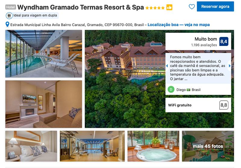 Wyndham Termas Resort & Spa em Gramado
